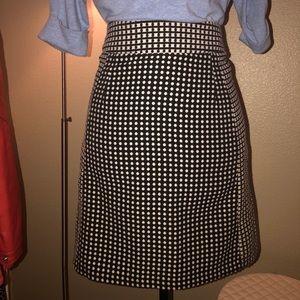 Black and White checkered skirt. Very comfortable